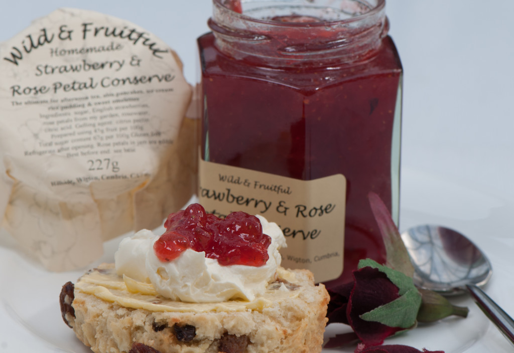 Very Fruity Strawberry and Rosepetal jam